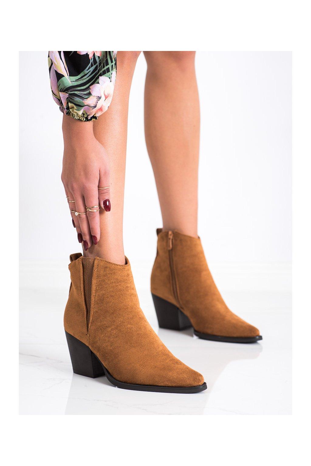 Hnedé dámske topánky Bestelle kod 19051C