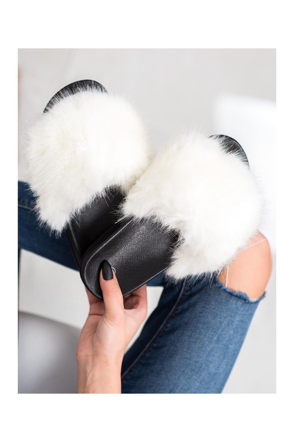 Biele dámske topánky na doma Trendi kod CK107WH