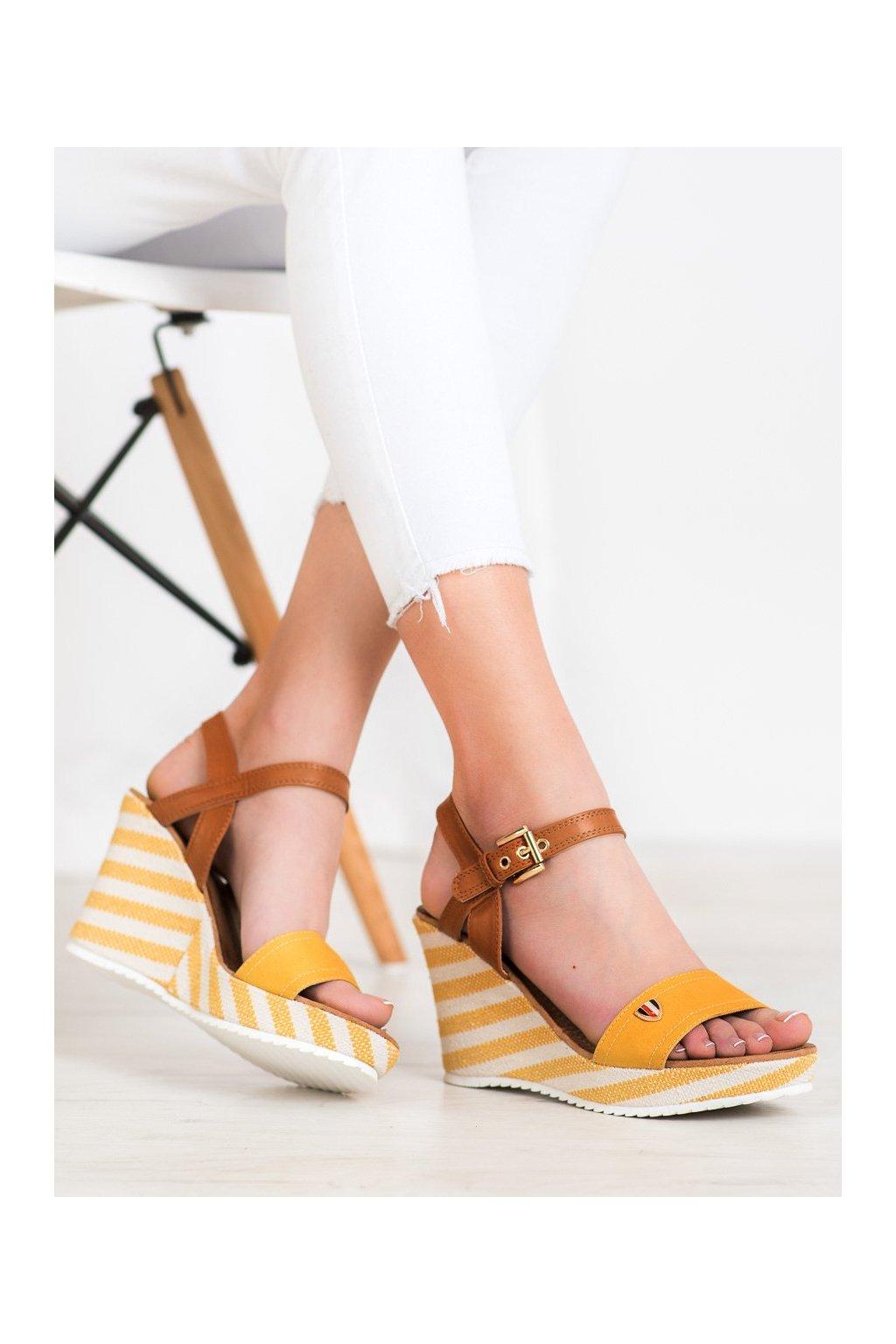 Žlté dámske sandále Goodin kod FL145B-Y