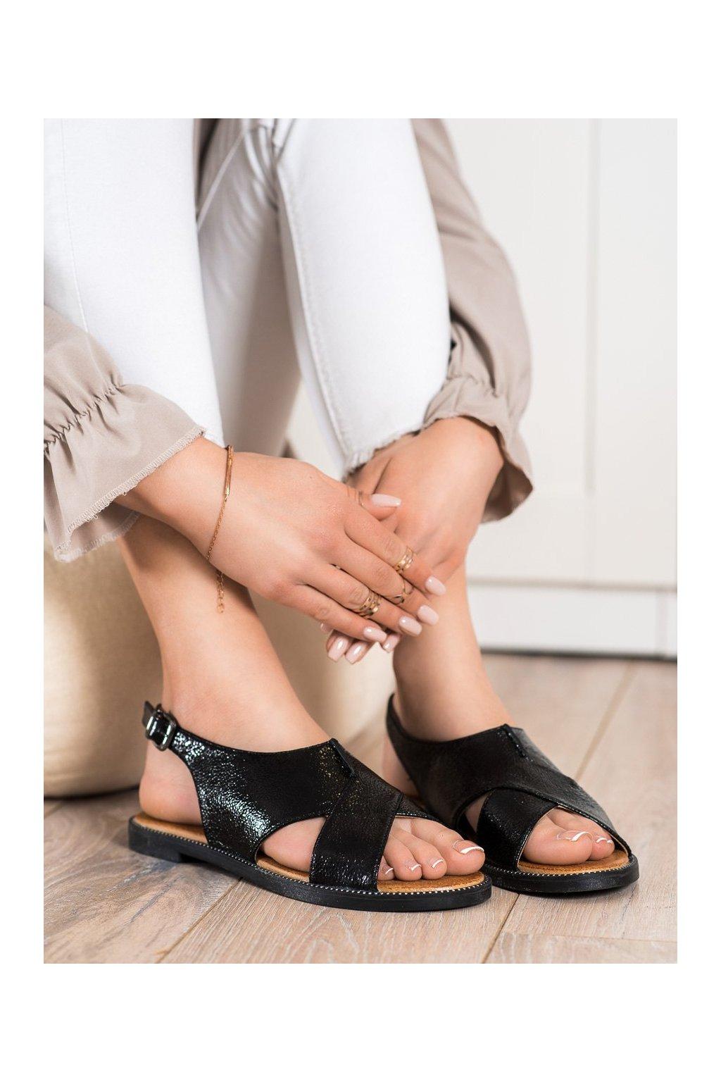 Čierne dámske sandále Filippo kod DS2104/21B