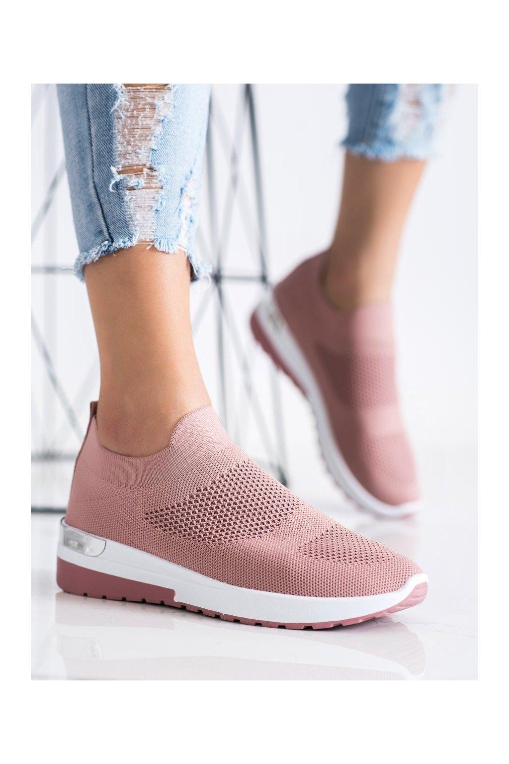 Ružové dámske tenisky Trendi kod G-362P