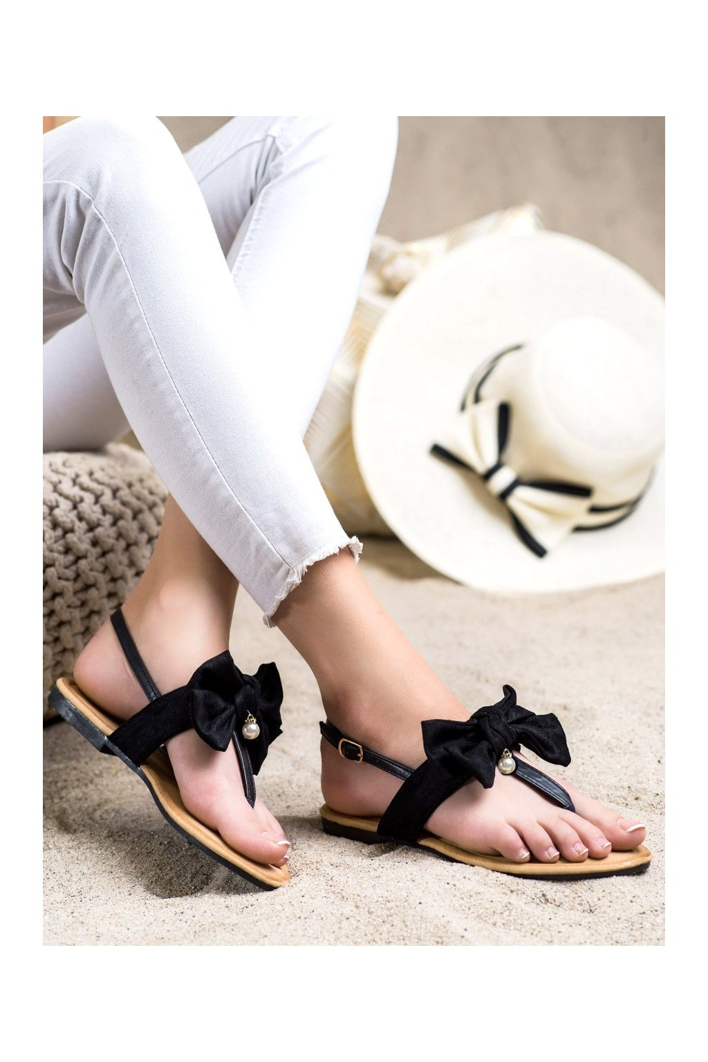 Čierne dámske sandále Seastar kod CK196B