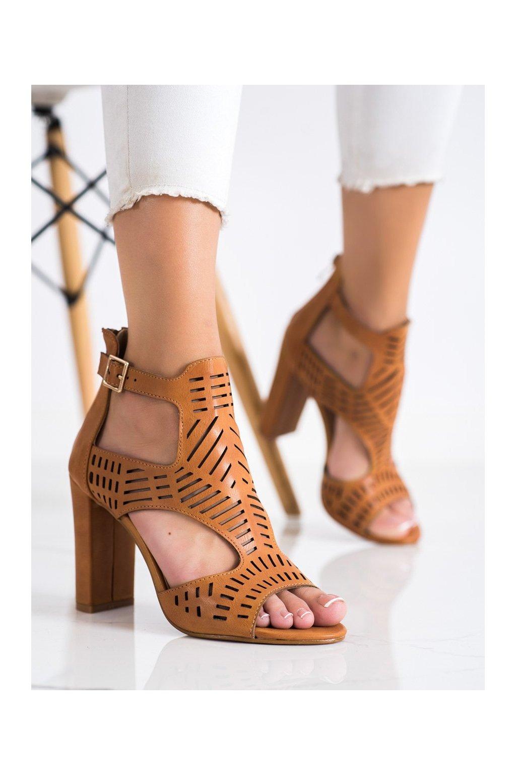 Hnedé dámske sandále Renda kod S-860C