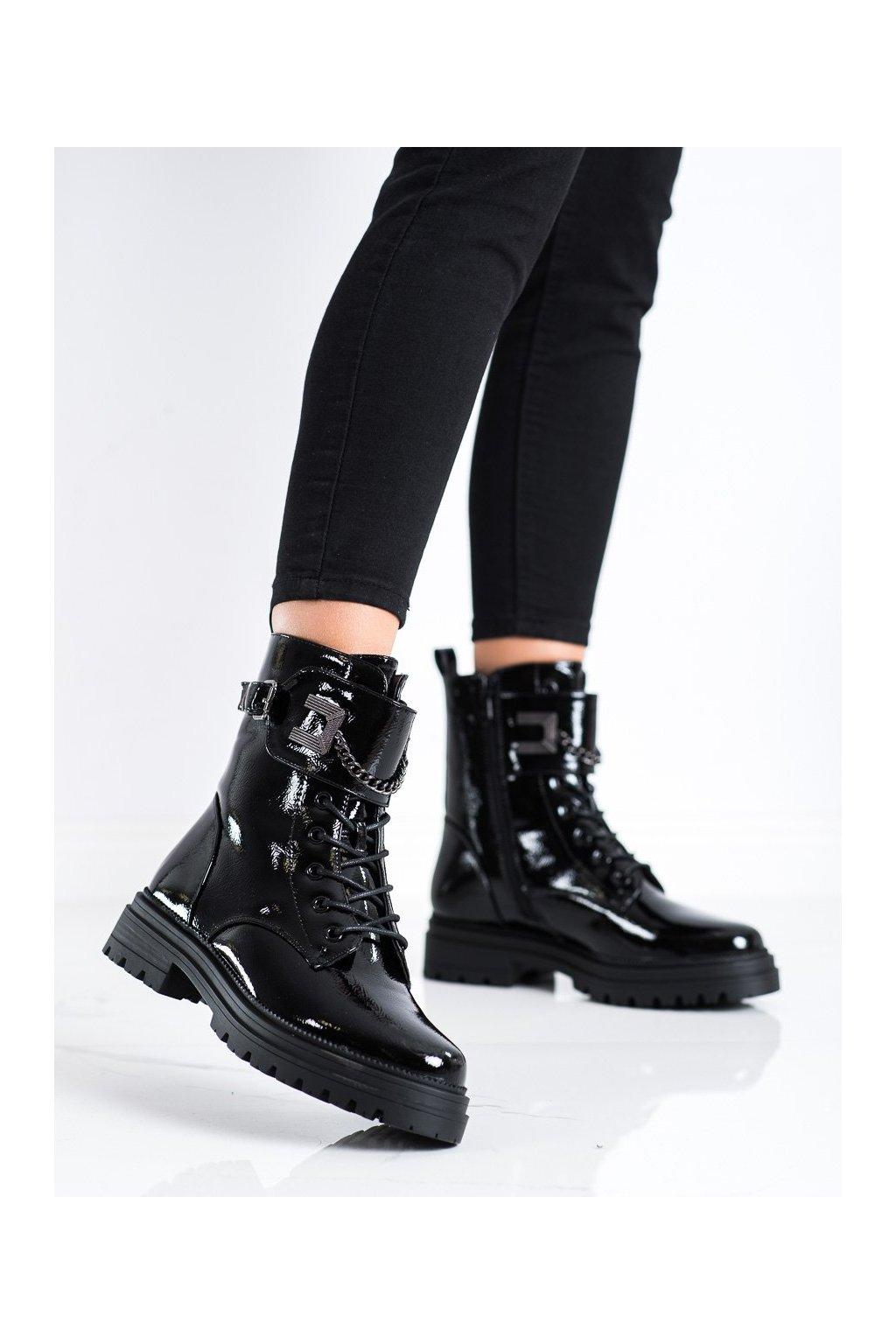 Čierne dámske topánky S. barski kod 34-55B