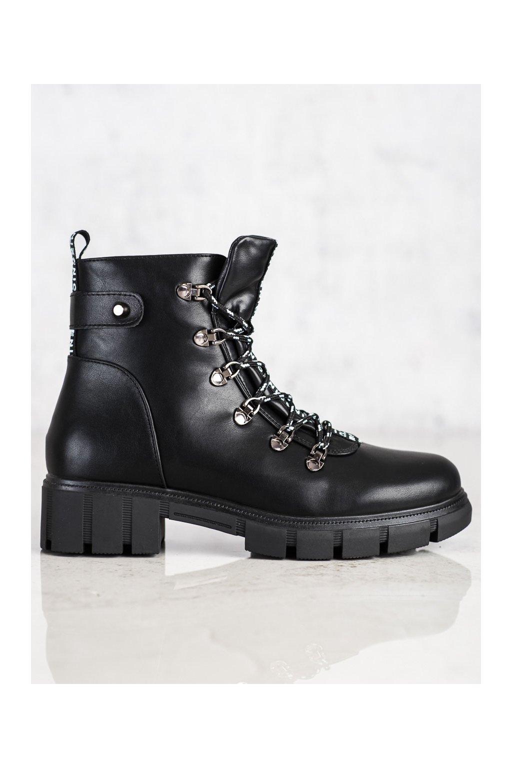 Čierne dámske topánky Vinceza kod HX22-16284B