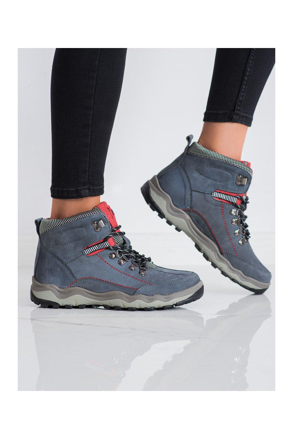 Fialové dámske trekové topánky New age kod BD15777G