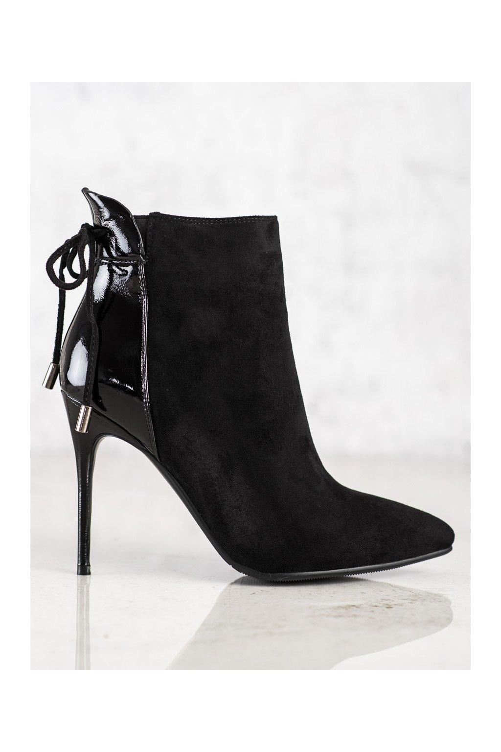 Čierne dámske topánky S. barski kod F34B