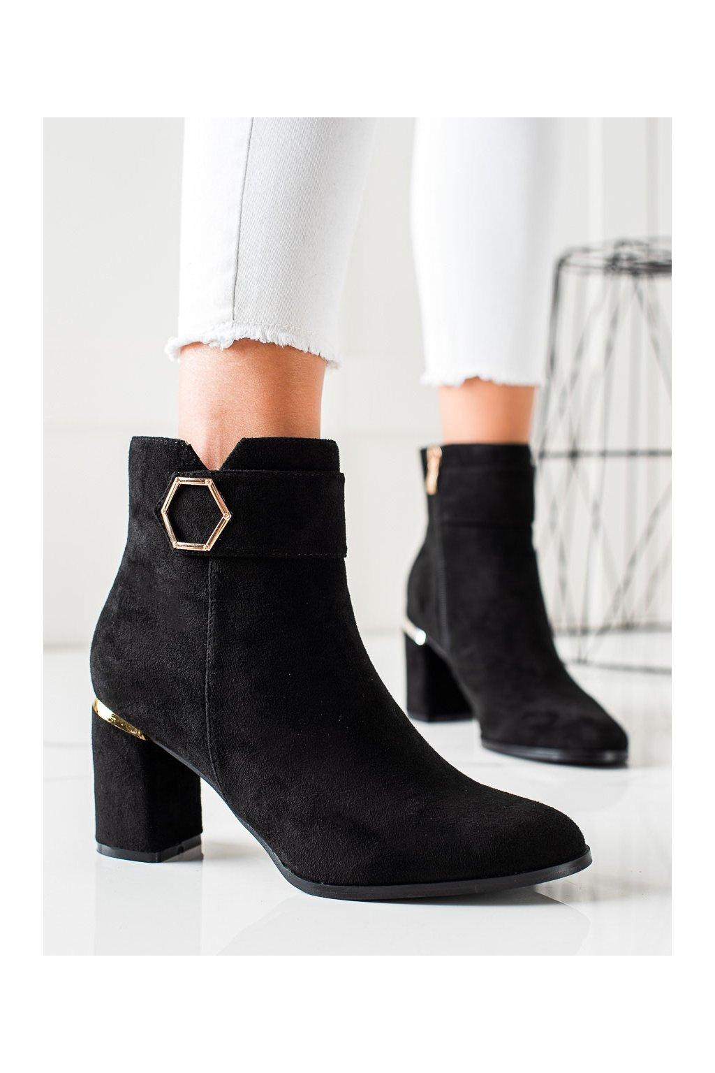 Čierne dámske topánky Goodin kod GD-DO-618B