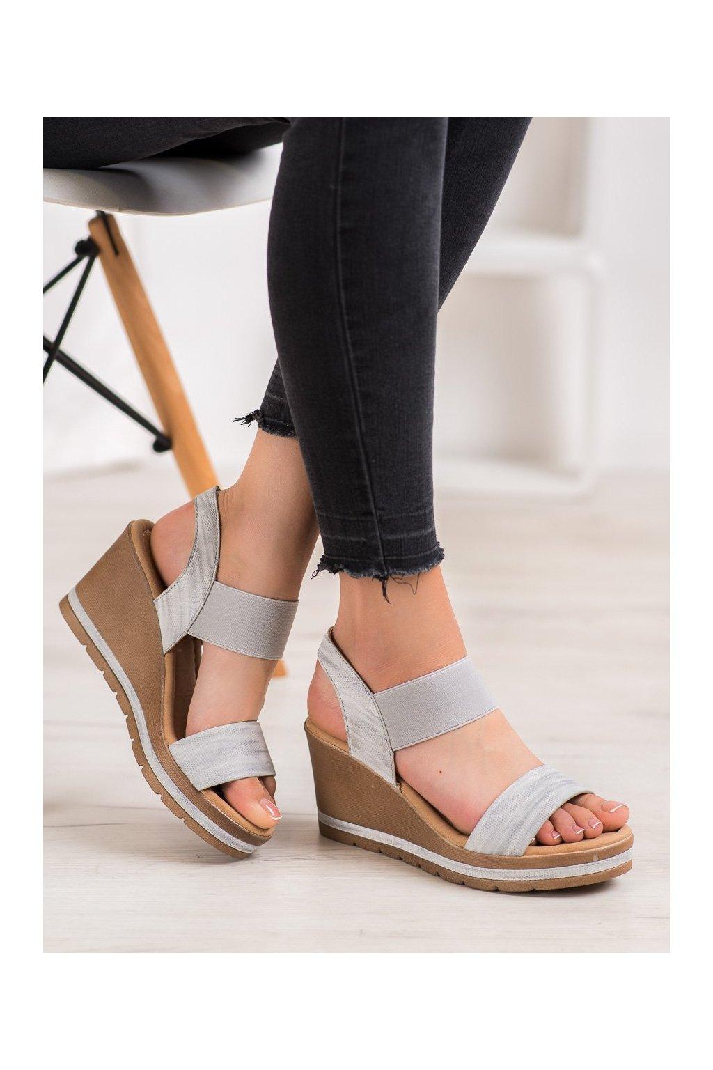 Sivé dámske sandále Sea elves kod 6436S