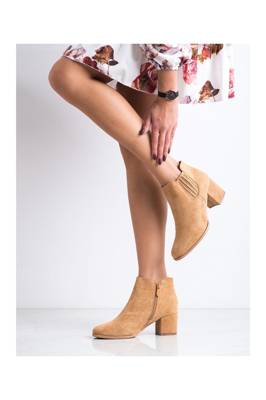 Hnedé dámske topánky Bella paris kod A6208C