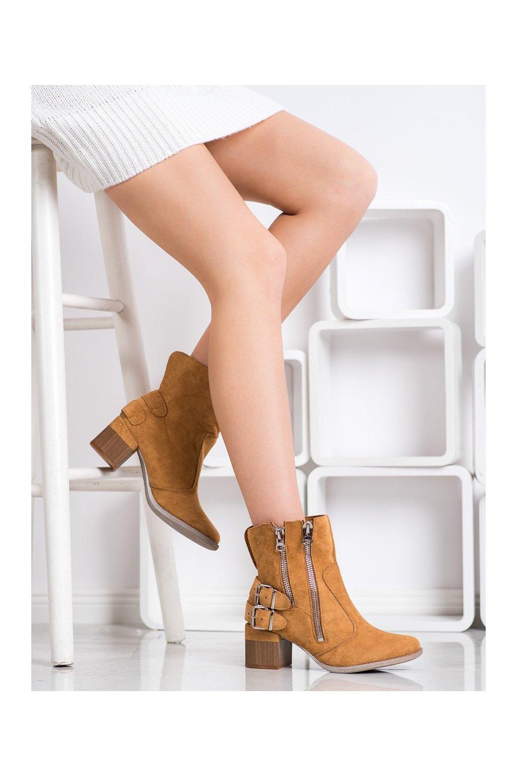 Hnedé dámske topánky Bella paris kod A6110C