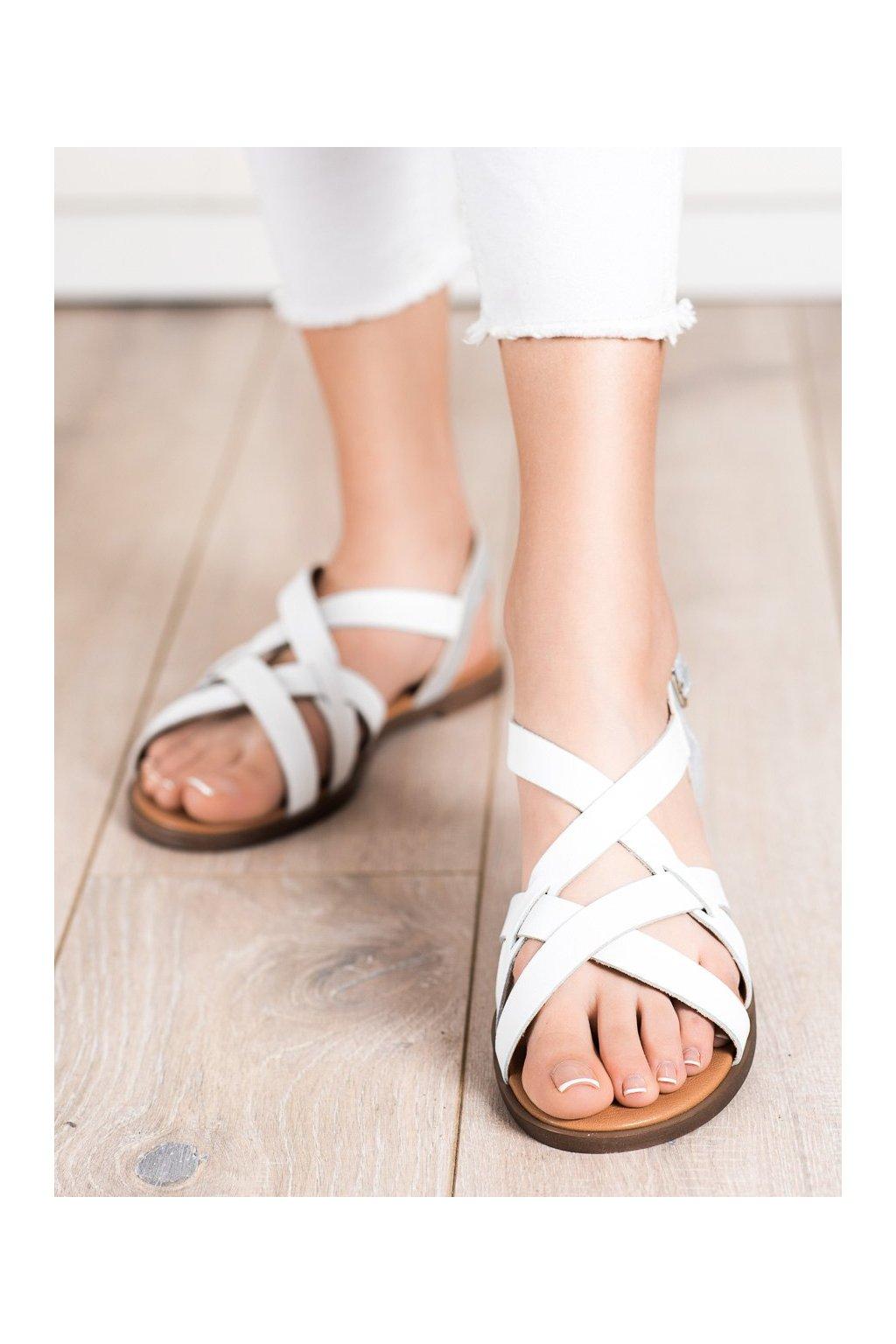 Biele dámske sandále Sergio leone kod SK062W
