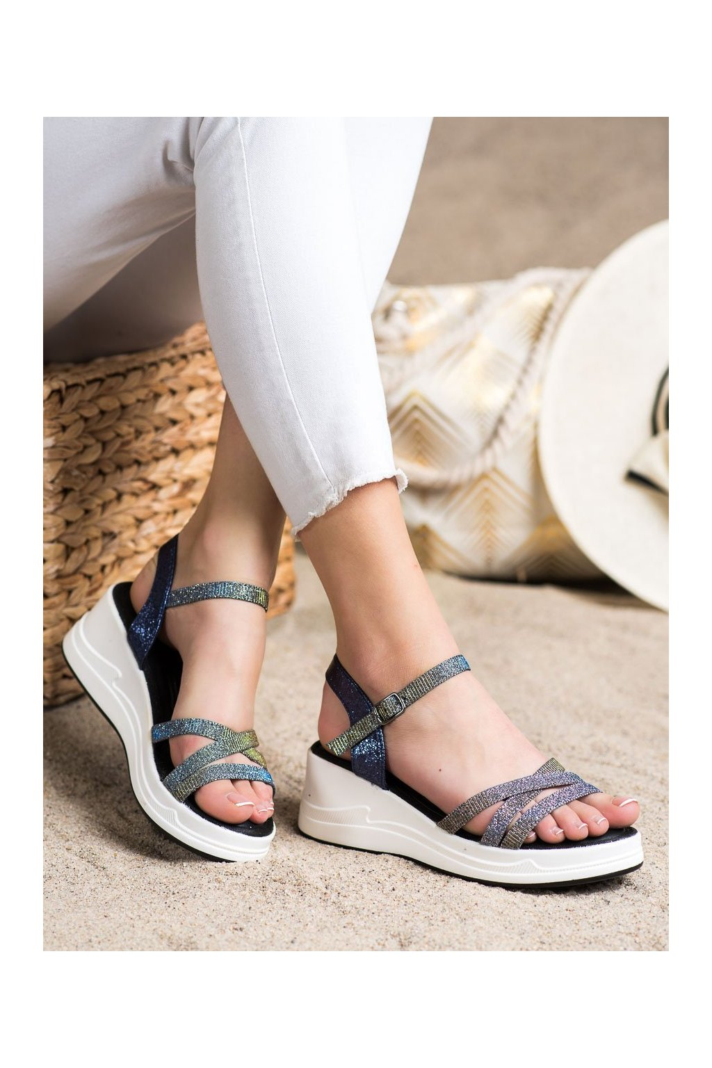Fialové dámske sandále Small swan kod XH02DK.BL
