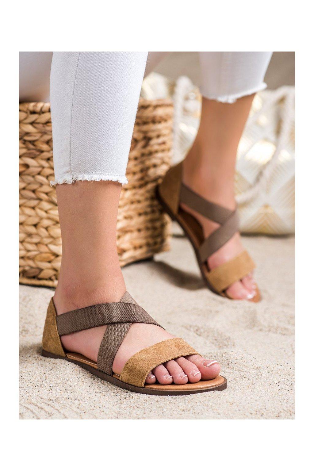 Hnedé dámske sandále Sergio leone kod SK061BE