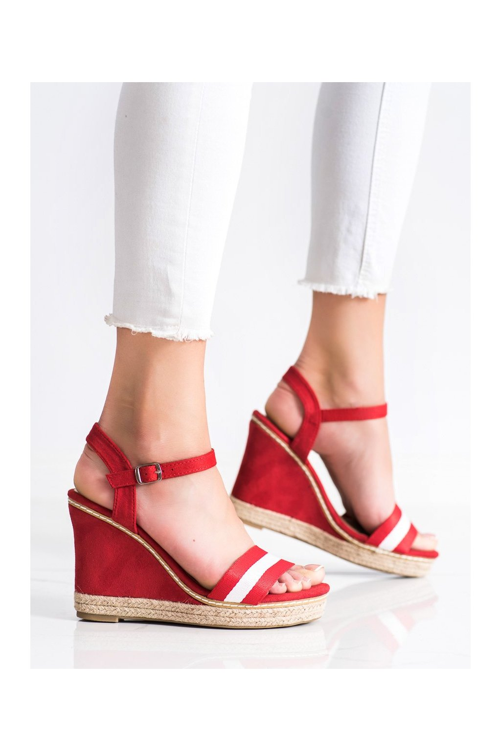 Červené dámske sandále Kayla kod LL6320R