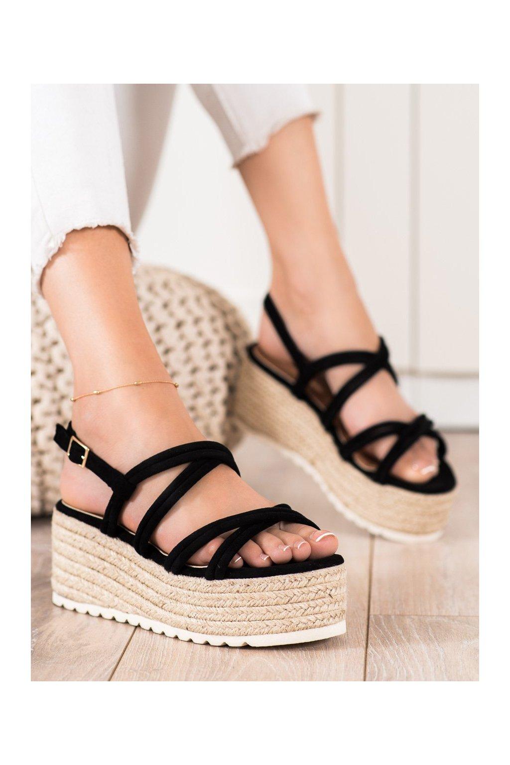 Čierne dámske sandále Seastar kod JH151B