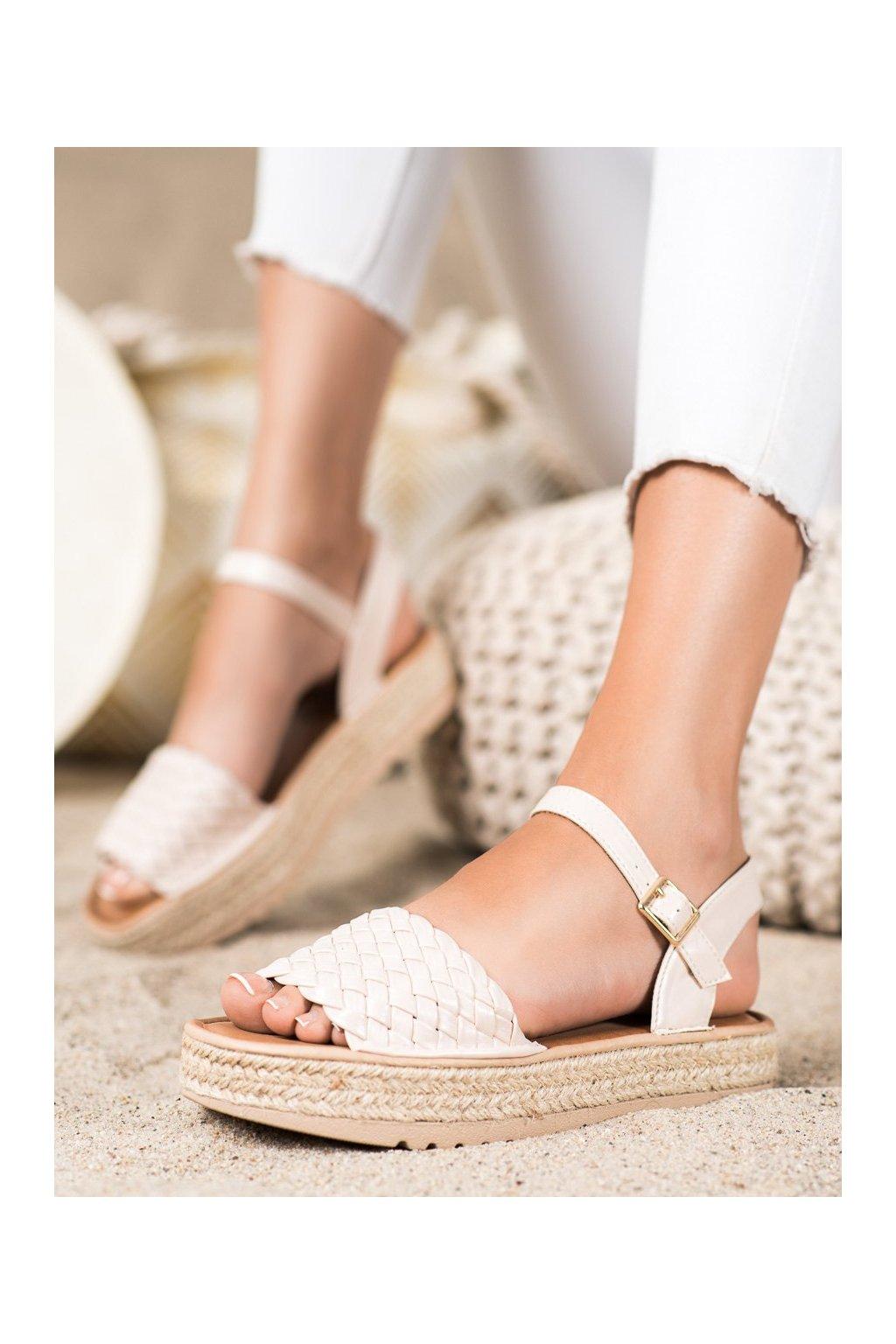 Hnedé dámske sandále Trendi kod HM82024BE