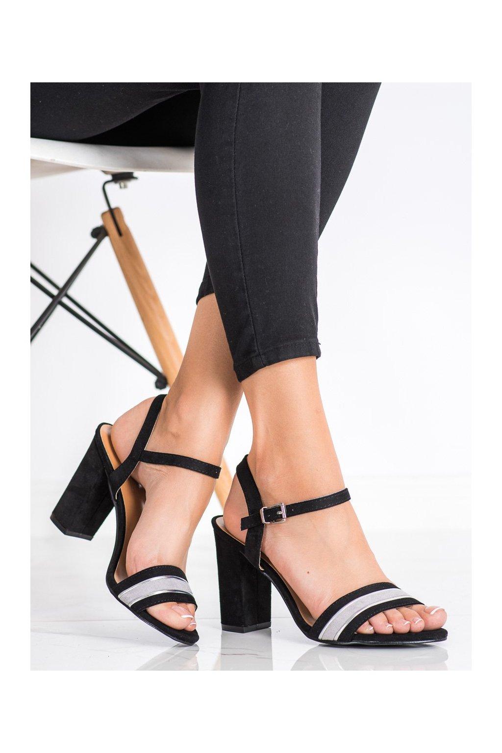 Čierne dámske sandále Cm paris kod 3587B