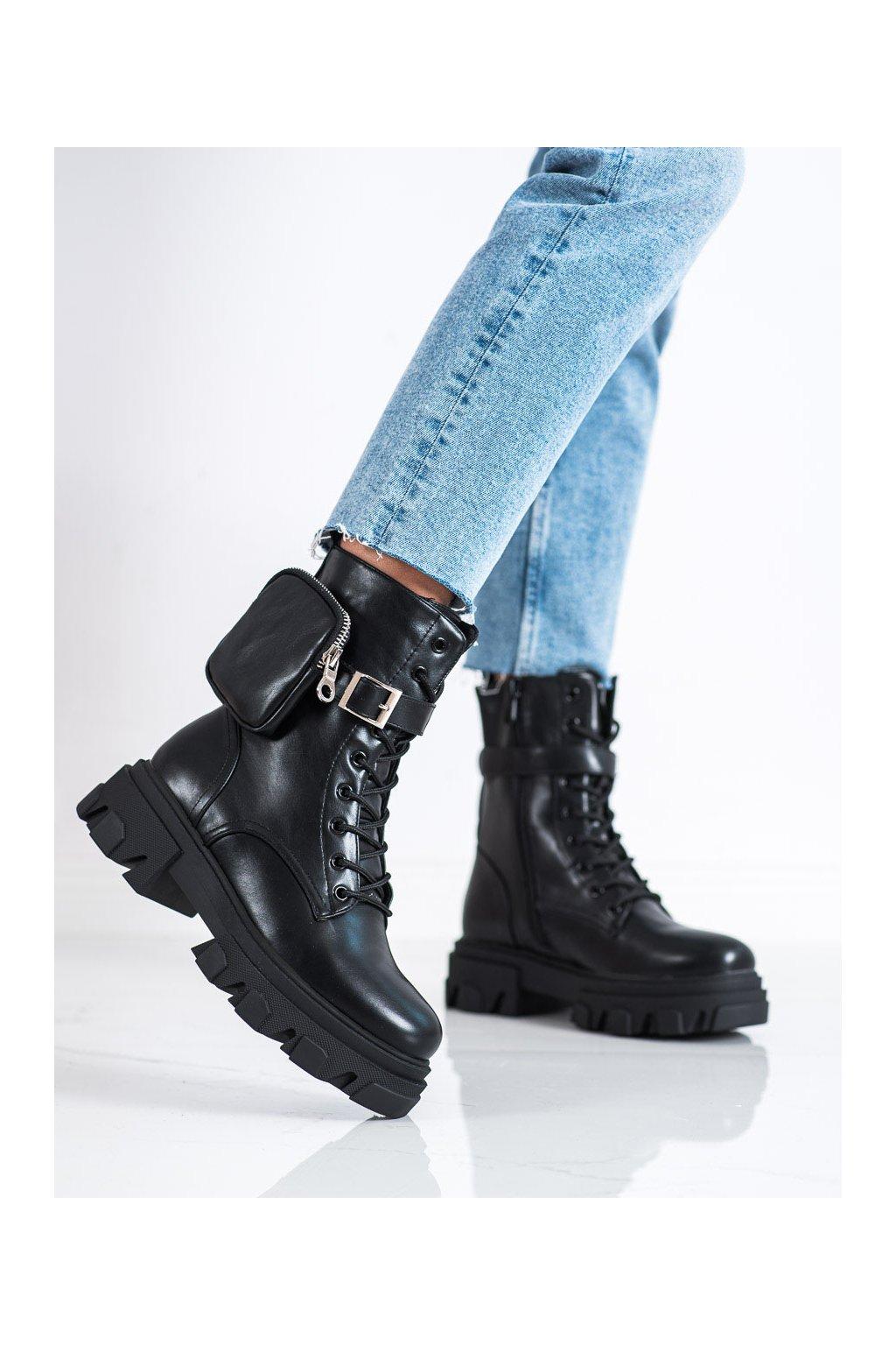 Čierne dámske topánky Bestelle kod 168-291B