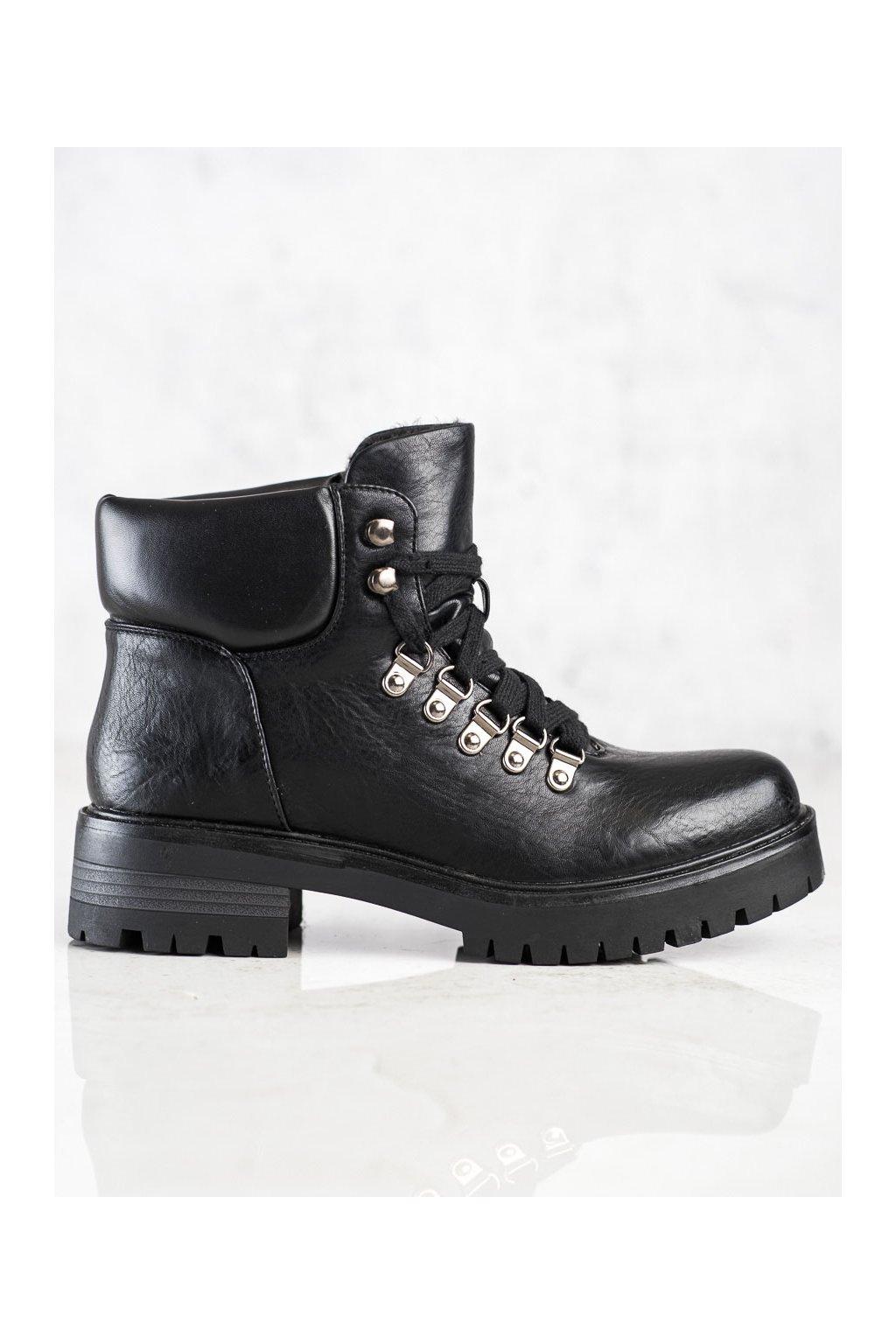 Čierne dámske topánky Ideal shoes kod TX-1833B