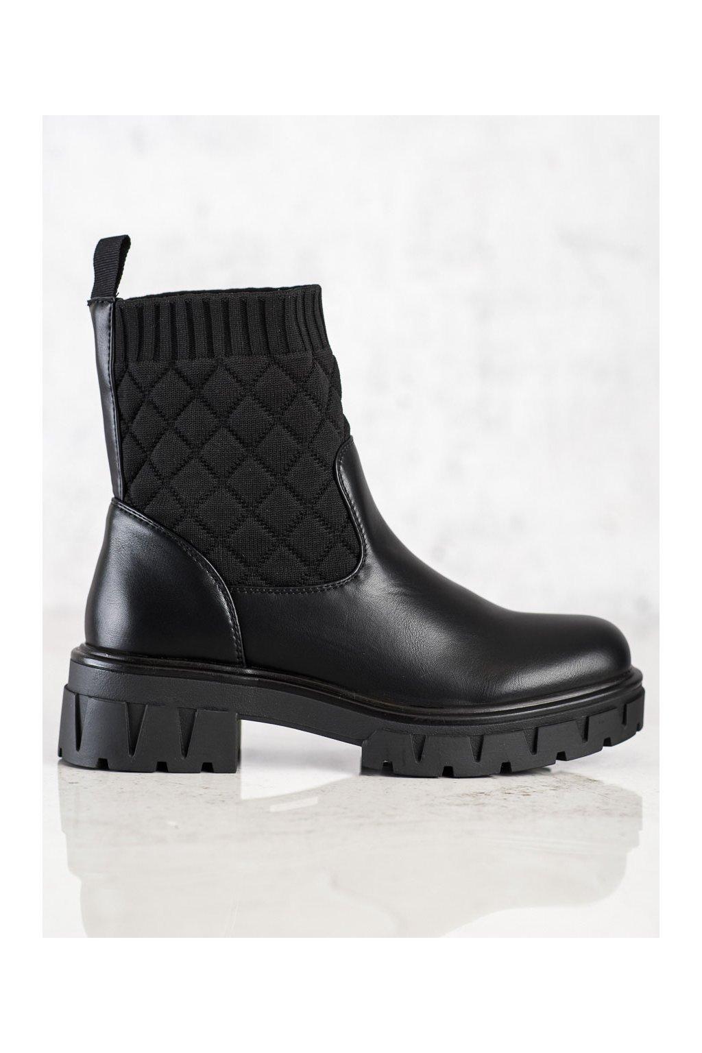 Čierne dámske topánky Seastar kod DA73B