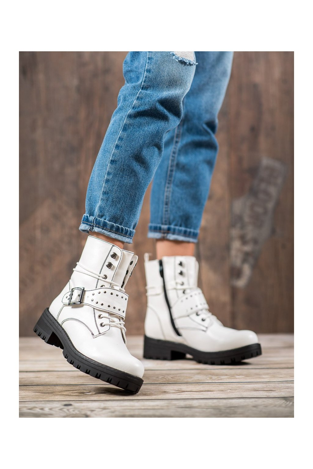 Biele dámske topánky Goodin kod GD-WL-20W