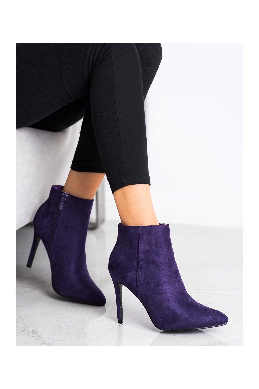 Fialové dámske topánky Small swan kod OM5407PU
