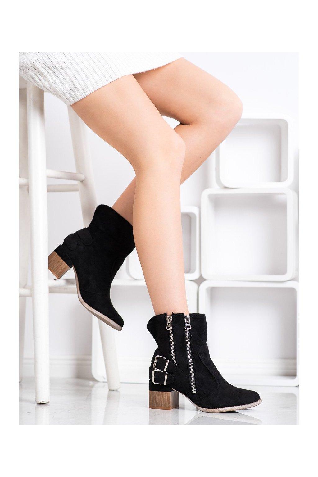 Čierne dámske topánky Bella paris kod A6110B