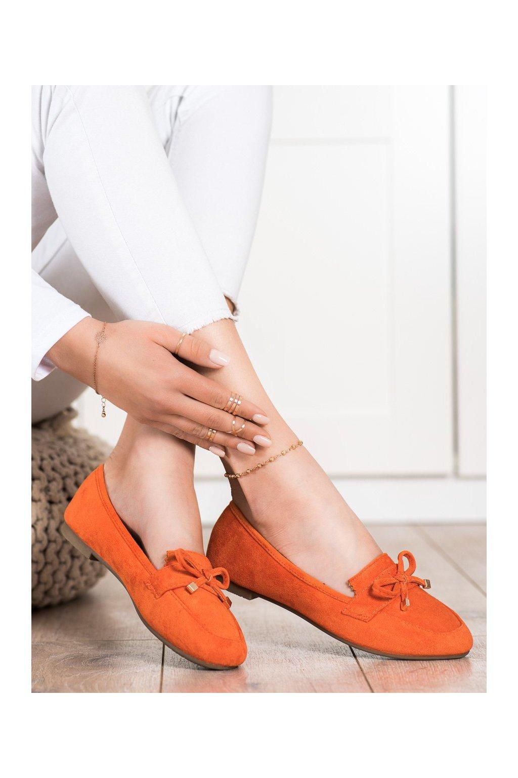 Oranžové dámske mokasíny Anesia paris kod 88-386OR
