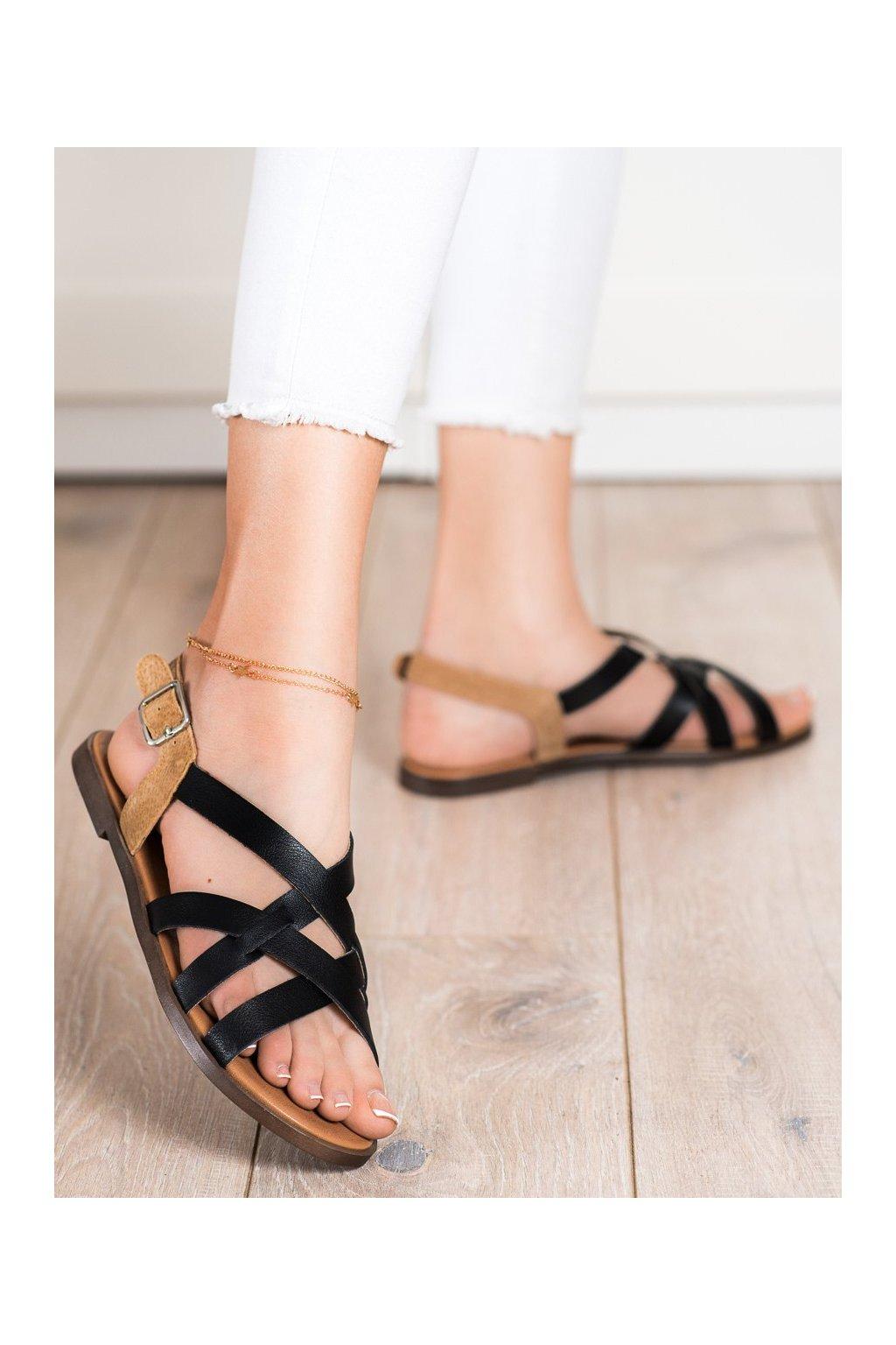 Čierne dámske sandále Sergio leone kod SK062B