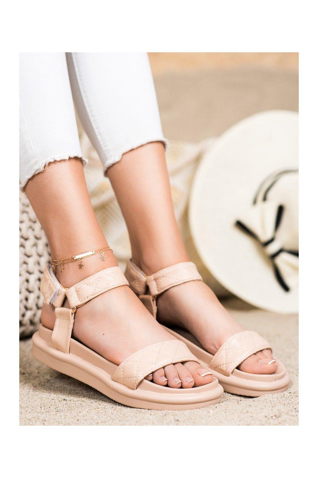 Hnedé dámske sandále Seastar kod CK197BE