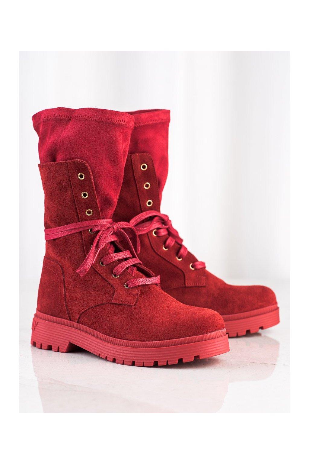 Červené dámske topánky Artiker kod 47C0549R