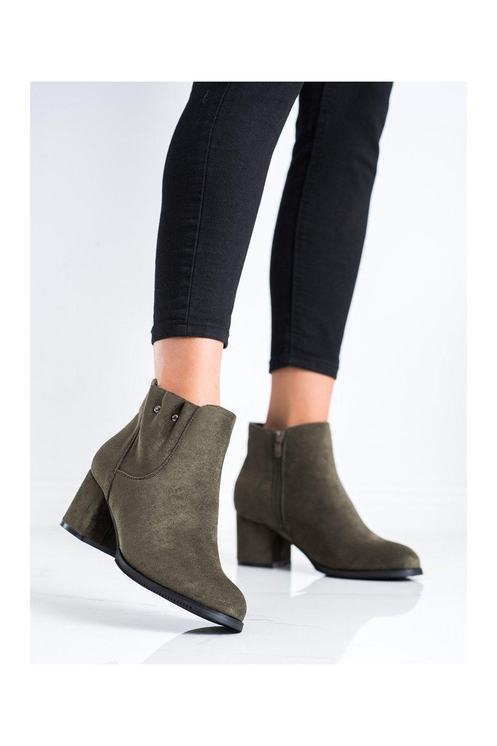 Zelené dámske topánky J. star kod 20Y8053GR