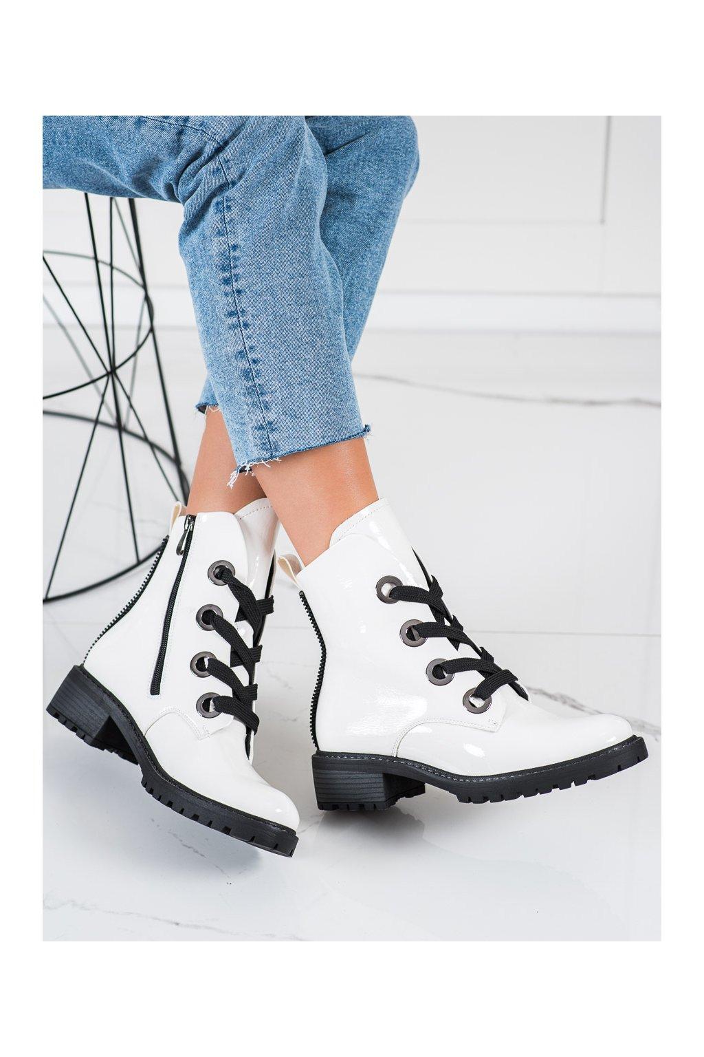 Biele dámske topánky Vinceza kod XY22-10660W