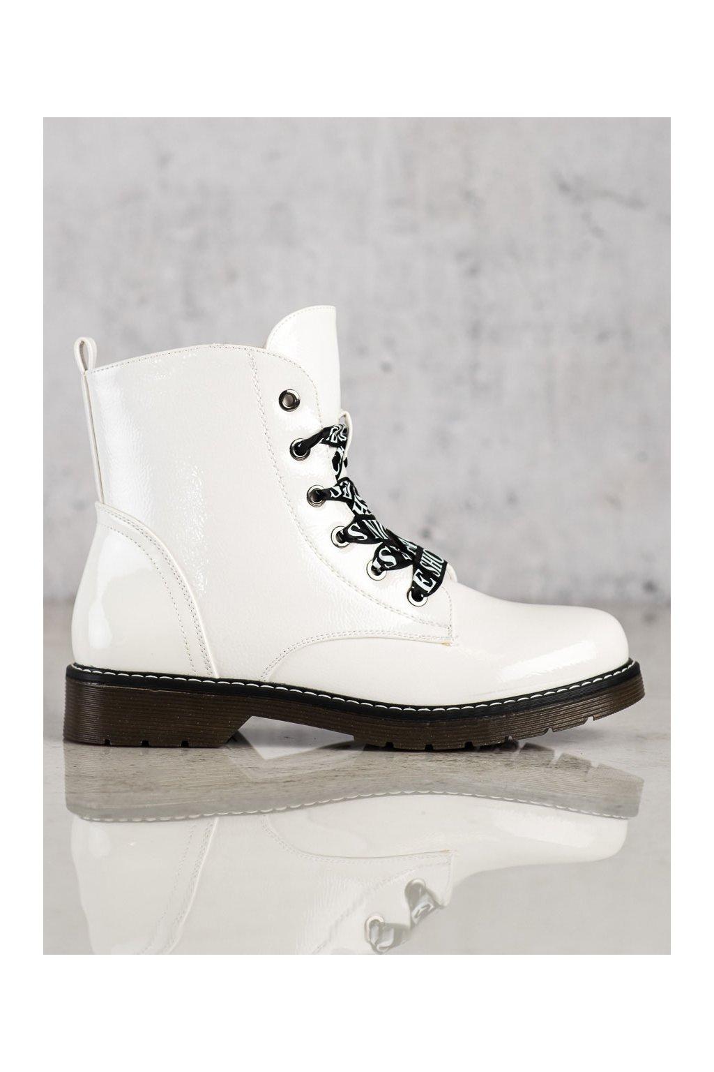 Biele dámske topánky Vinceza kod HX22-16253W