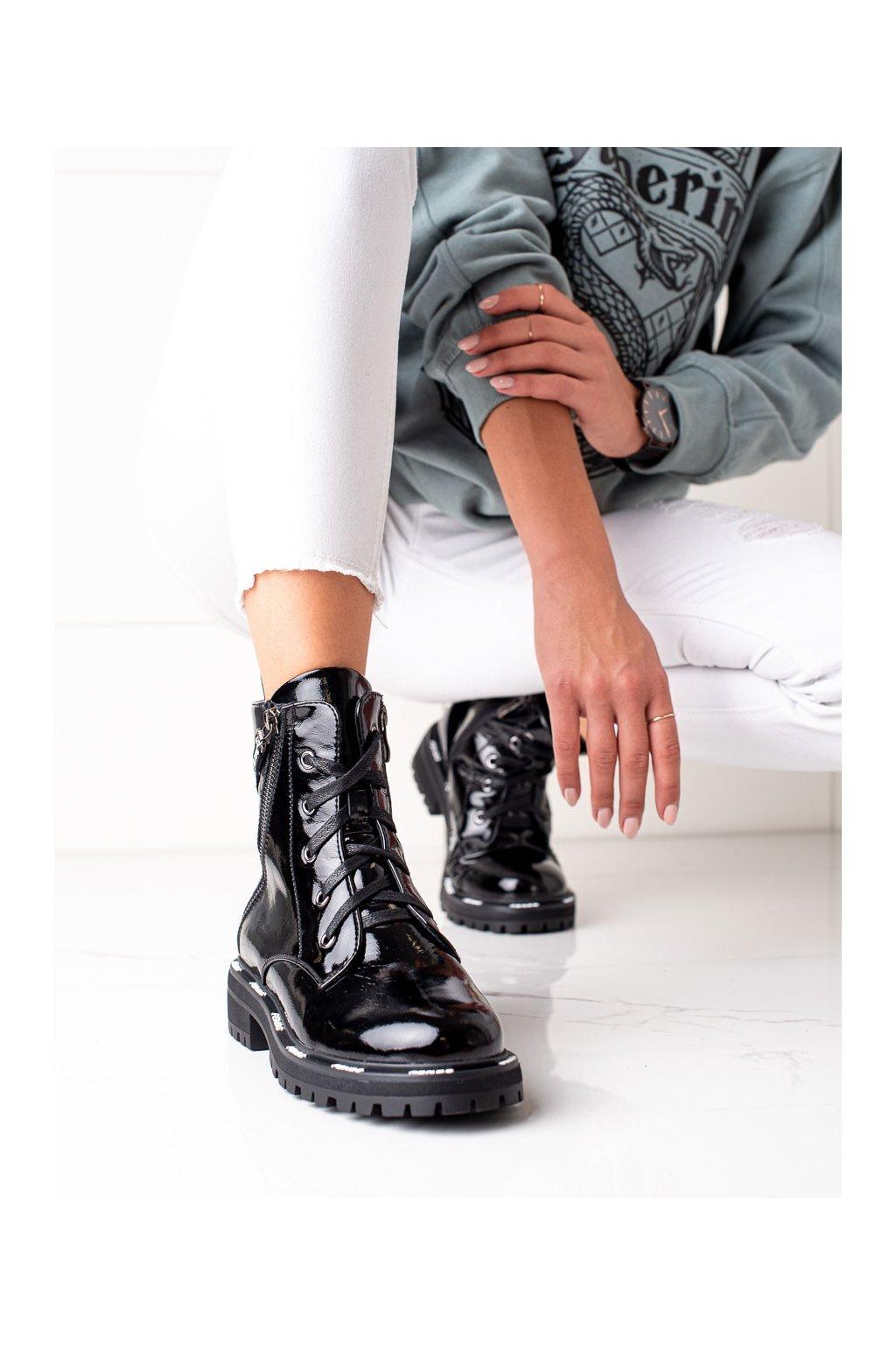 Čierne dámske topánky Artiker kod 49C0319B