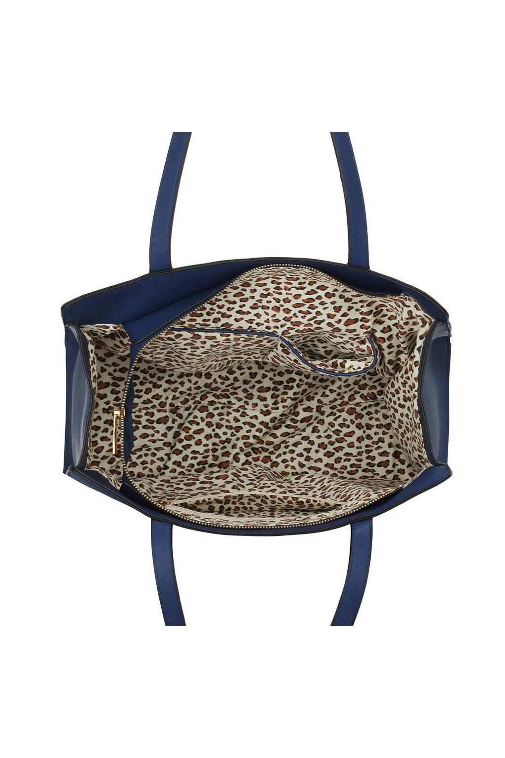 Modro - oranžová kabelka na rameno Camille 3a274379144