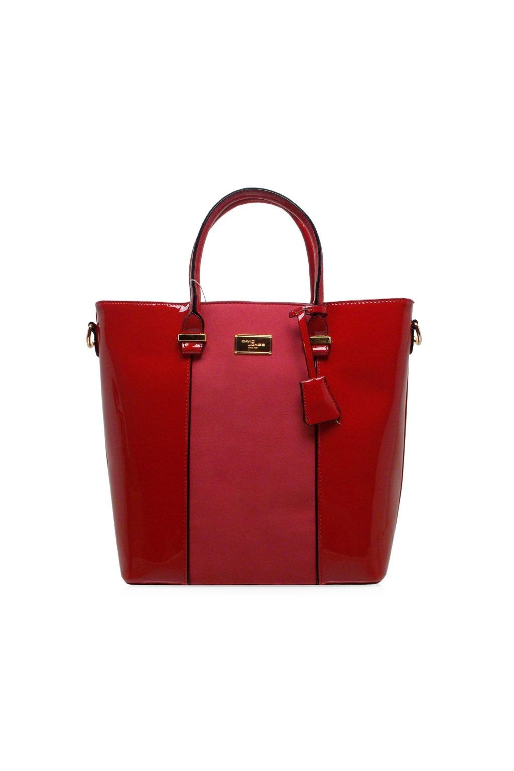 Shopper kabelka David Jones červená CM3852 7010831e8b8