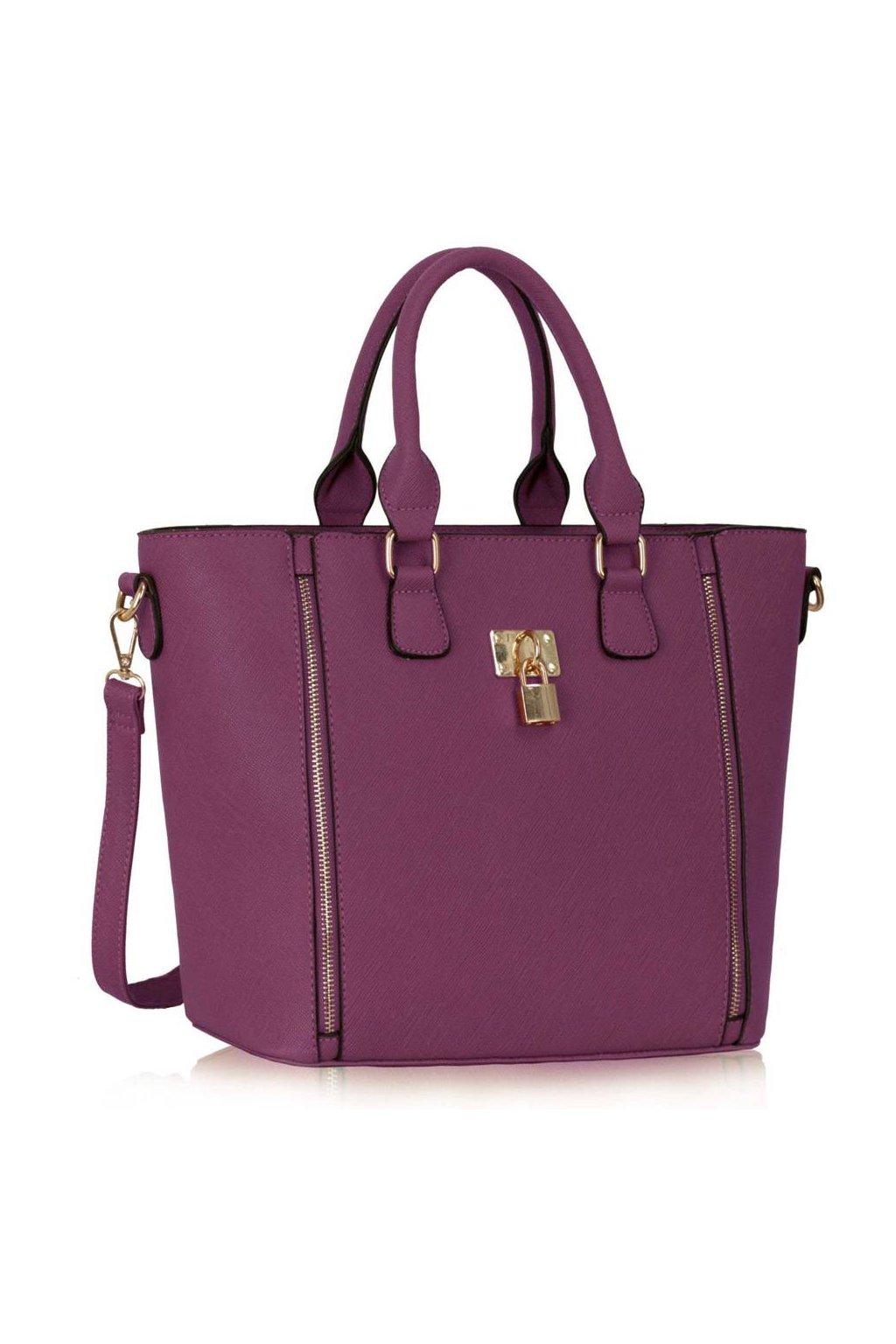 Shopper kabelka do ruky Alex fialová LS0031A