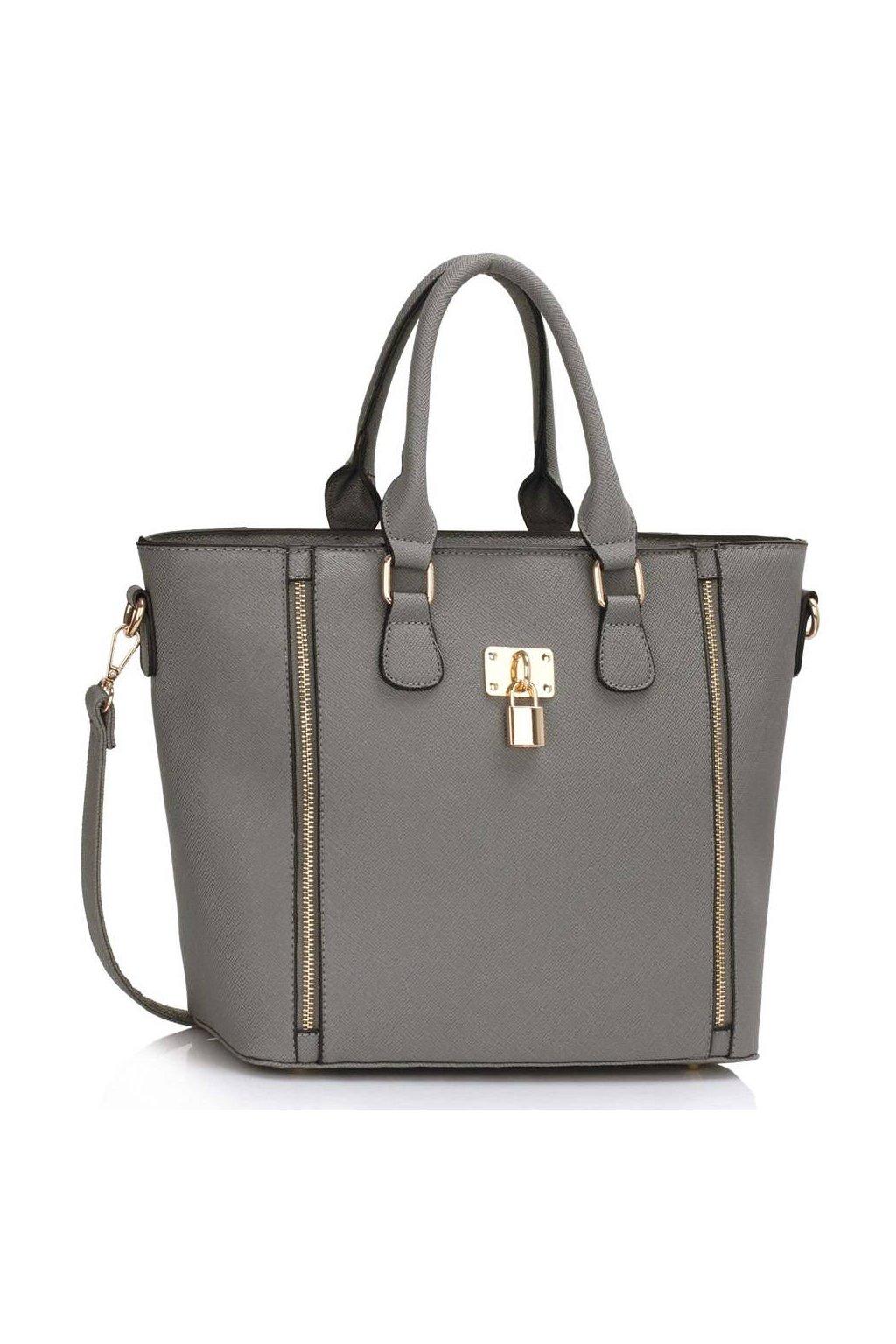Shopper kabelka do ruky Alex sivá LS0031A