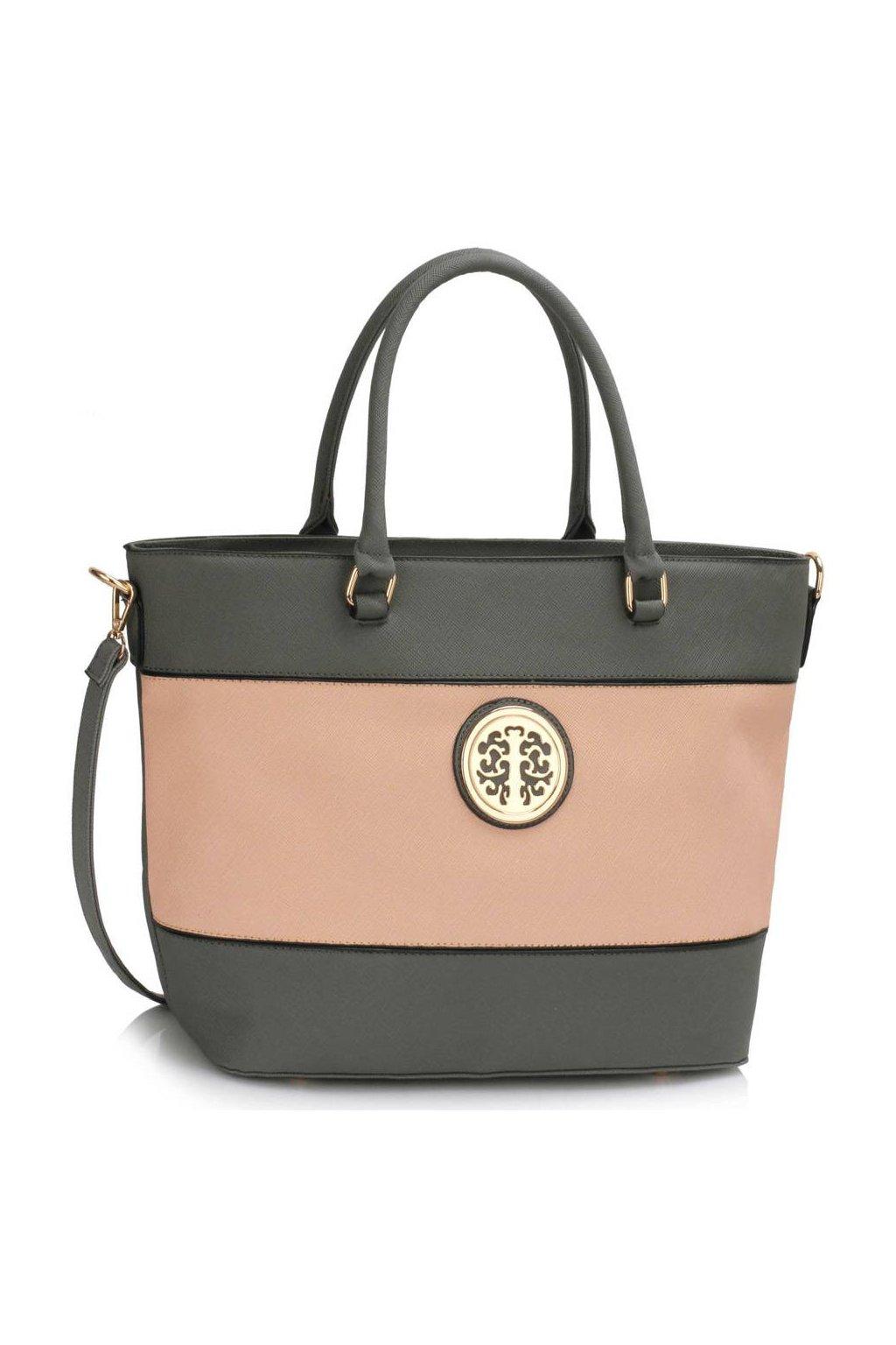 Shopper kabelka do ruky Arline A sivá / telová LS00406A