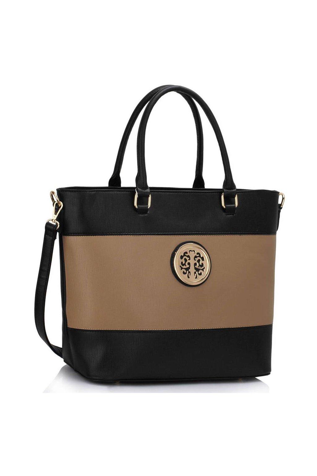 Shopper kabelka do ruky Arline čierna / telová LS00406