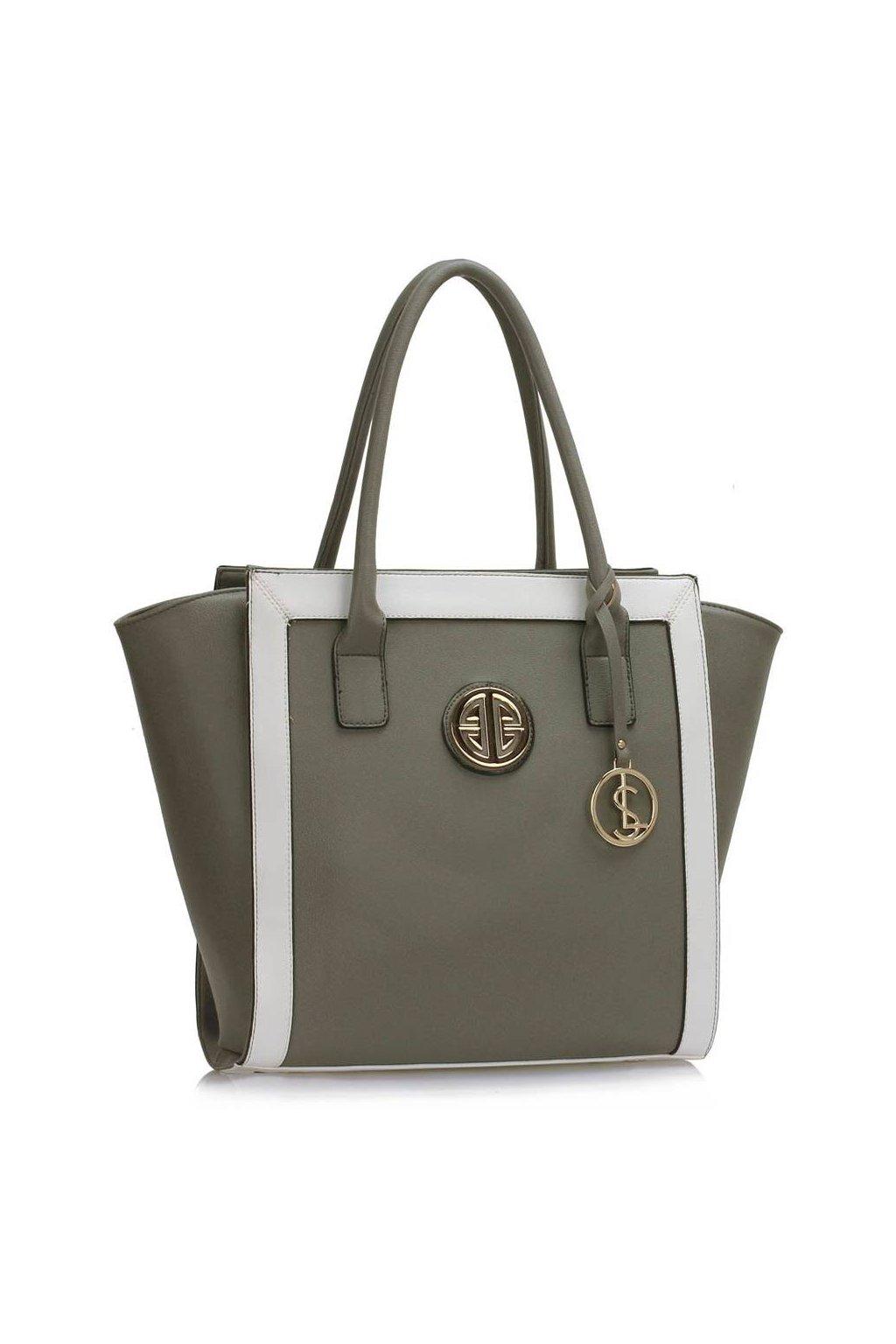 Shopper kabelka do ruky Carin sivá   biela b882234ce47