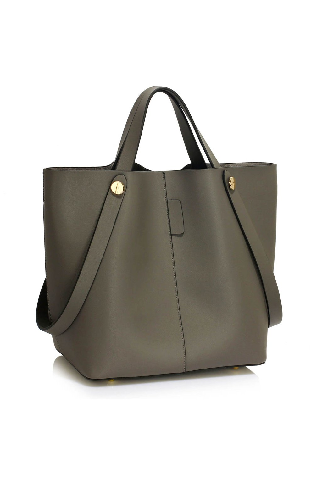 Shopper kabelka do ruky Carla sivá LS00198  ebf52a15962