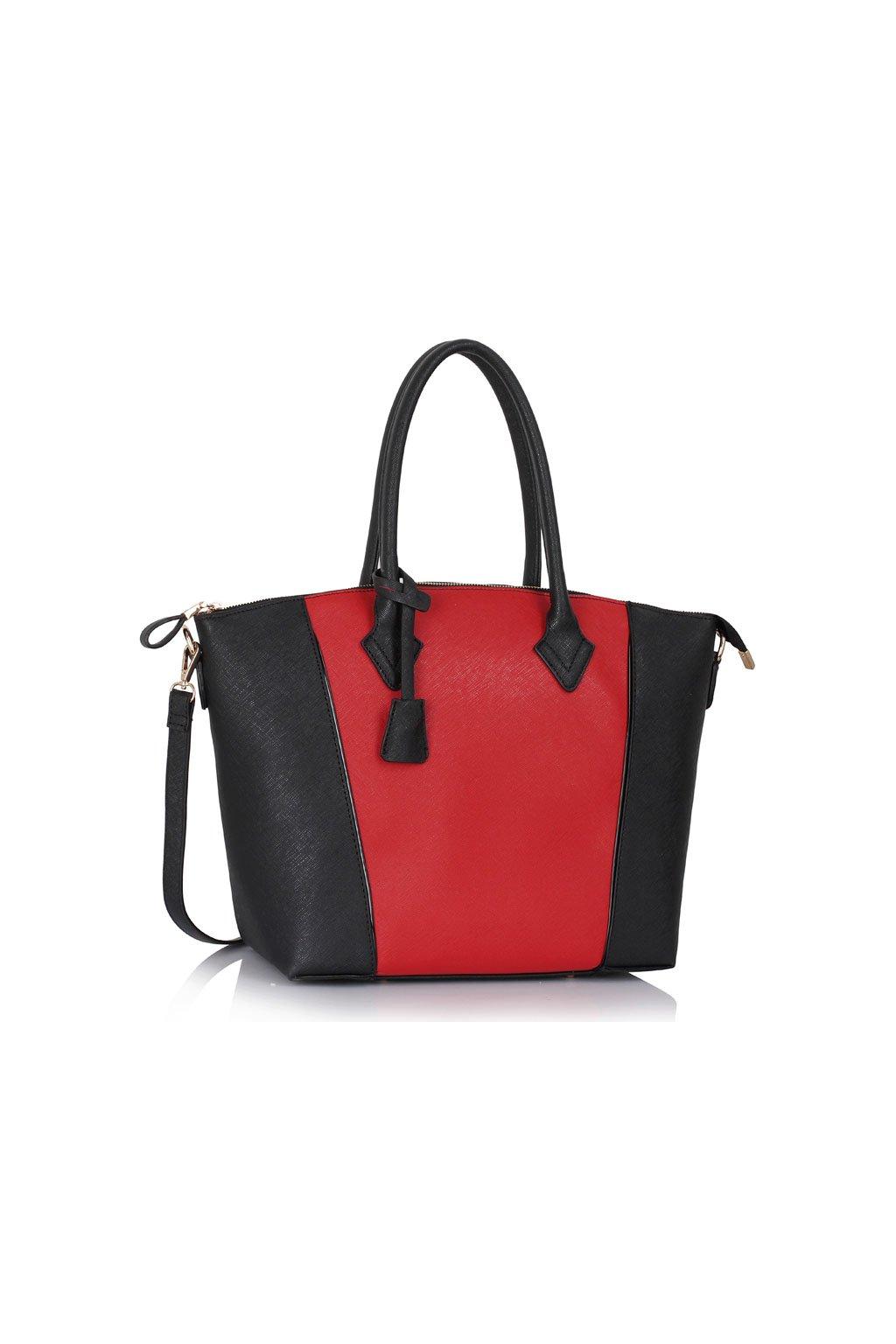 Shopper kabelka do ruky Clem čierna / červená LS00332