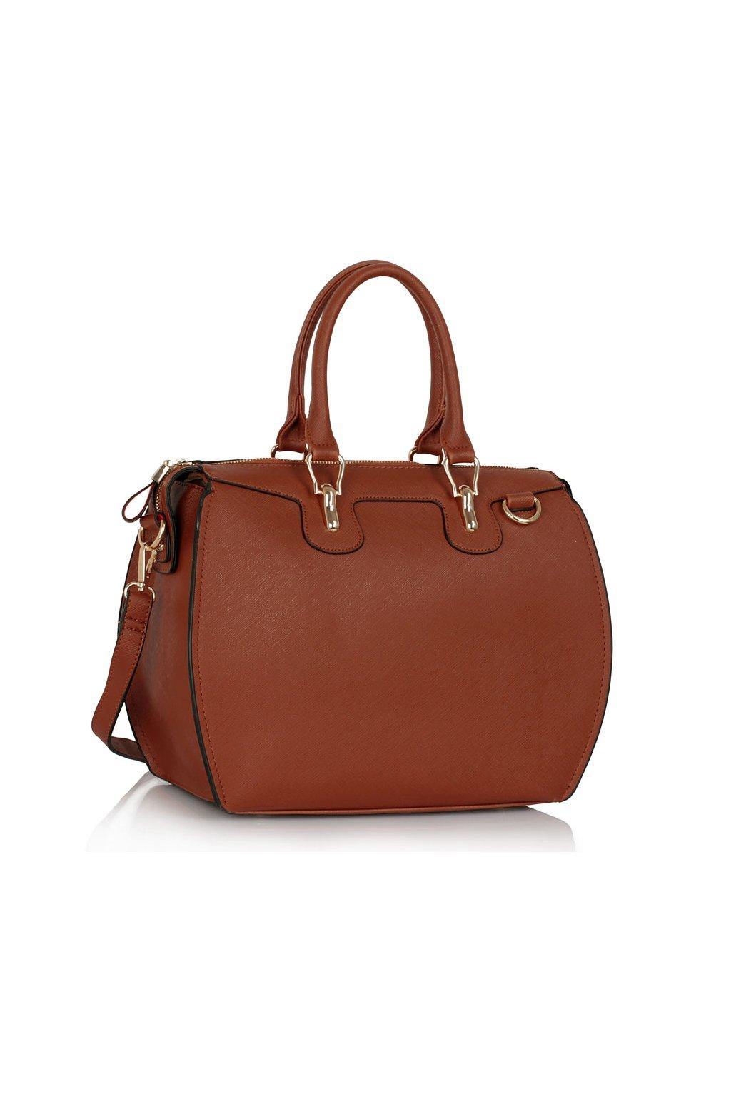 Shopper kabelka do ruky Clementine hnedá LS0099A