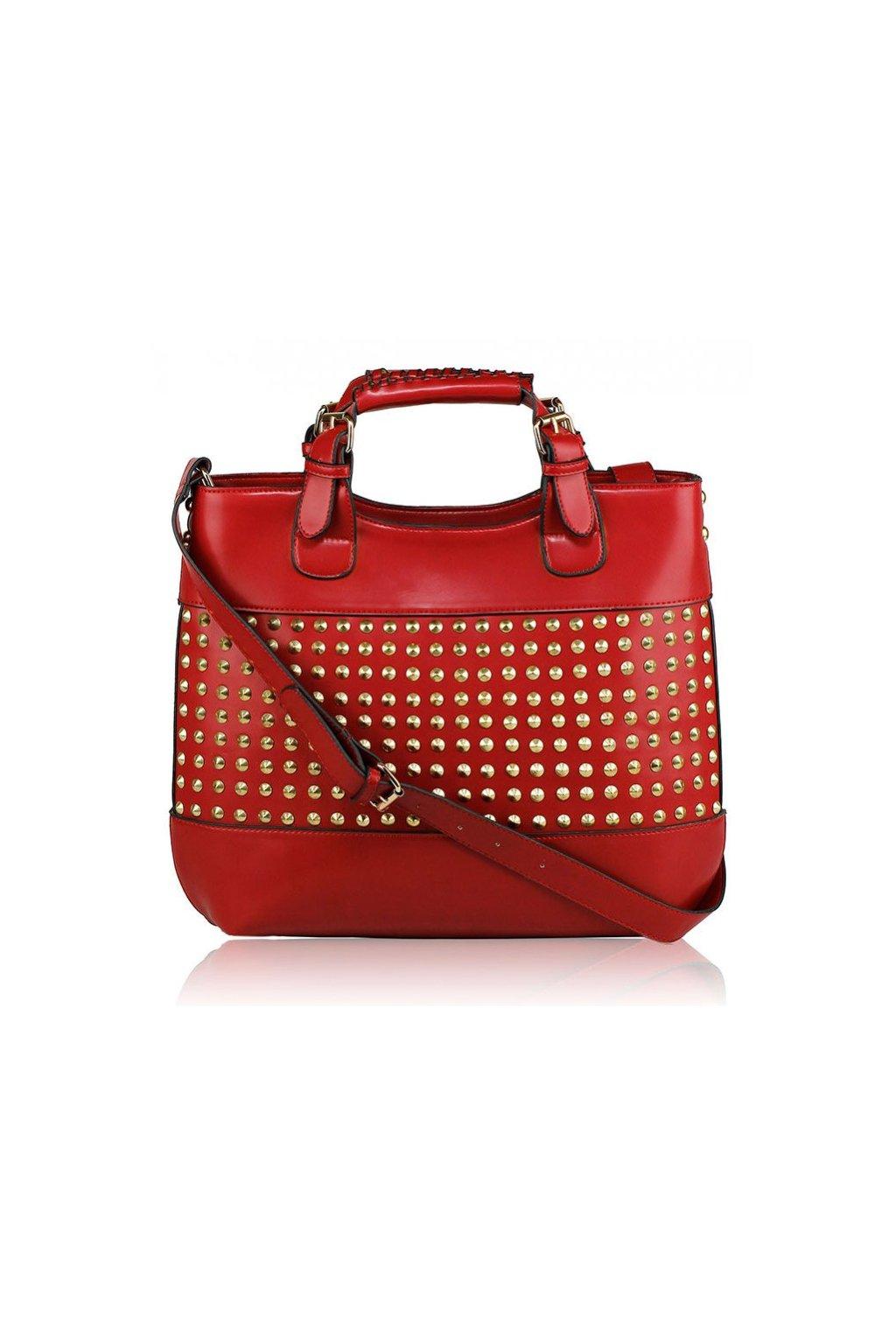 Shopper kabelka do ruky Delia F červená LS00106