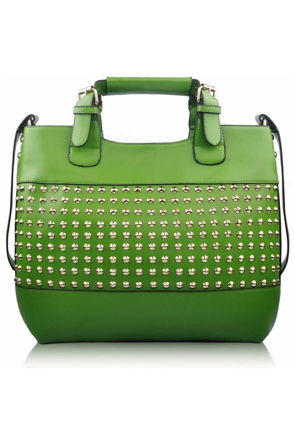Shopper kabelka do ruky Delia F zelená LS00106