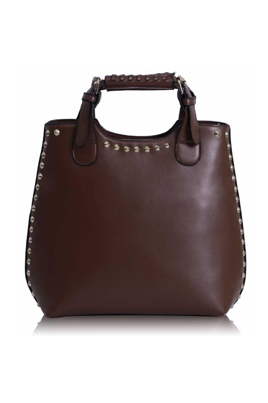 Shopper kabelka do ruky Delia G hnedá LS00105
