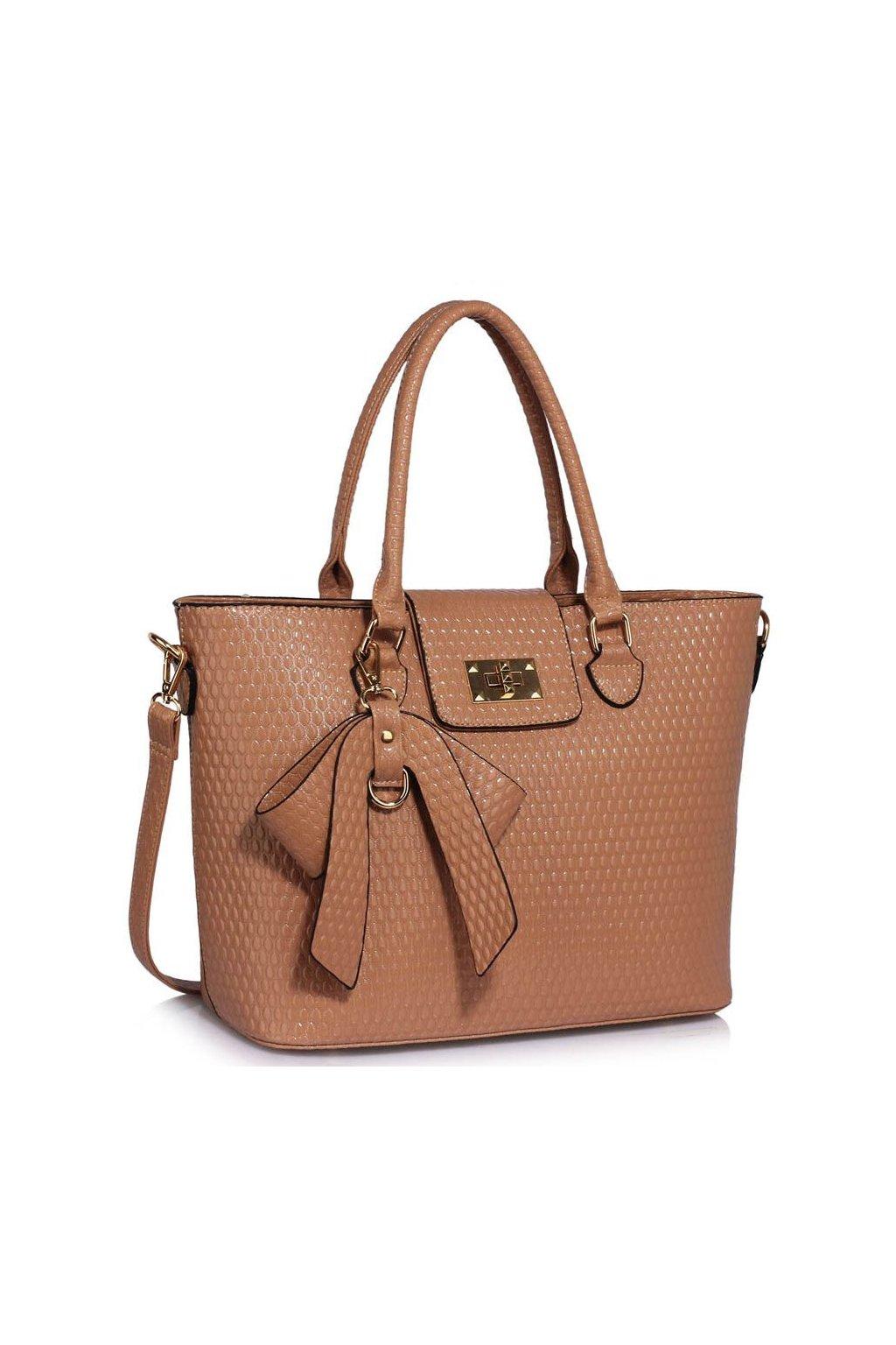 Shopper kabelka do ruky Ginny telová LS00485